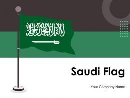 Saudi Flag Arabia Painted Leaning Miniature Designed Country