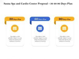 Sauna Spa And Cardio Center Proposal 30 60 90 Days Plan Ppt Demonstration