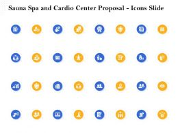 Sauna Spa And Cardio Center Proposal Icons Slide Ppt File Topics