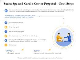 Sauna Spa And Cardio Center Proposal Next Steps Ppt File Topics