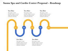 Sauna Spa And Cardio Center Proposal Roadmap Ppt Infographics