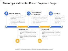 Sauna Spa And Cardio Center Proposal Scope Ppt File Formats