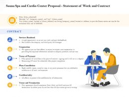 Sauna Spa And Cardio Center Proposal Statement Of Work And Contract Ppt File Elements