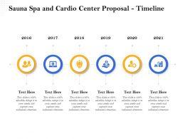 Sauna Spa And Cardio Center Proposal Timeline Ppt File Design
