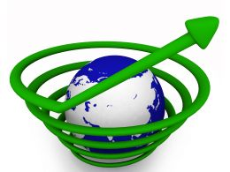 Save And Protect A Globe Stock Photo