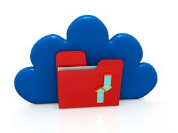 Save Data On Cloud Stock Photo