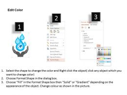 Save Earth And Water Protection Flat Powerpoint Desgin