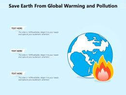Save Earth From Global Warming And Pollution