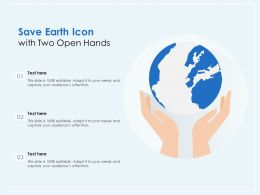 Save Earth Icon With Two Open Hands