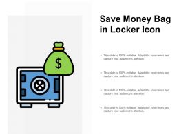 Save Money Bag In Locker Icon