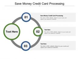 Save Money Credit Card Processing Ppt Powerpoint Presentation Show Guide Cpb