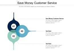 Save Money Customer Service Ppt Powerpoint Presentation Infographic Template Slide Cpb