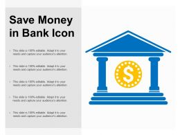 Save Money In Bank Icon