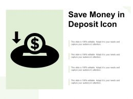 Save Money In Deposit Icon