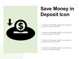 Save Money In Deposit Icon