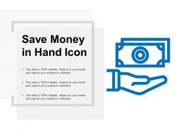 Save Money In Hand Icon