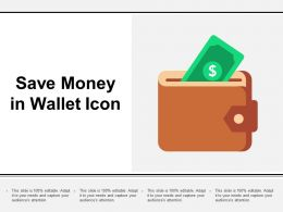 Save Money In Wallet Icon