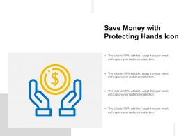 Save Money With Protecting Hands Icon