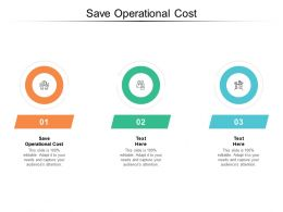 Save Operational Cost Ppt Powerpoint Presentation Pictures Designs Cpb
