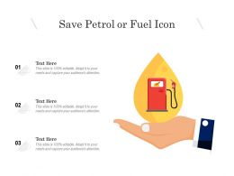 Save Petrol Or Fuel Icon