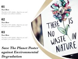 Save The Planet Poster Against Environmental Degradation