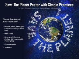 Save The Planet Poster With Simple Practices