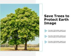 Save Trees To Protect Earth Image