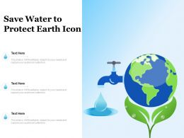 Save Water To Protect Earth Icon