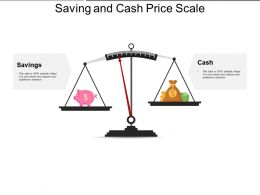 Saving And Cash Price Scale