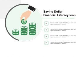 Saving Dollar Financial Literacy Icon