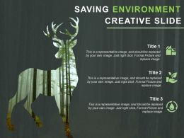 Saving Environment Powerpoint Slide