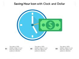 Saving Hour Icon With Clock And Dollar