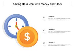 Saving Hour Icon With Money And Clock