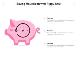 Saving Hours Icon With Piggy Bank