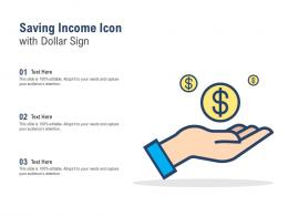 Saving Income Icon With Dollar Sign