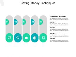 Saving Money Techniques Ppt Powerpoint Presentation Visual Aids Summary Cpb