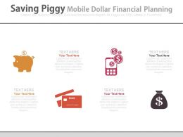 Saving Piggy Mobile Dollars Financial Planning Powerpoint Slides