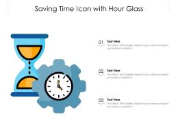 Saving Time Icon With Hour Glass