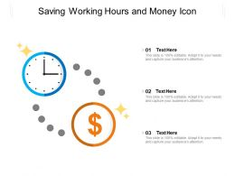Saving Working Hours And Money Icon