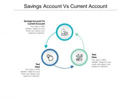 Savings Account Vs Current Account Ppt Powerpoint Presentation Pictures Model Cpb