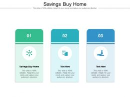Savings Buy Home Ppt Powerpoint Presentation Model Master Slide Cpb