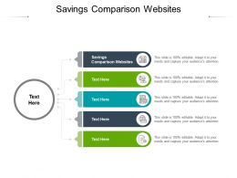 Savings Comparison Websites Ppt Powerpoint Presentation Professional Slide Download Cpb