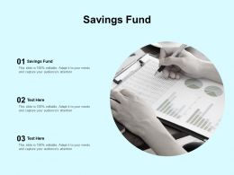 Savings Fund Ppt Powerpoint Presentation Portfolio Design Inspiration Cpb