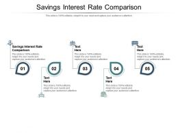 Savings Interest Rate Comparison Ppt Powerpoint Presentation Outline Gridlines Cpb