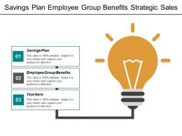 Savings Plan Employee Group Benefits Strategic Sales Planning Cpb