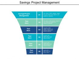 Savings Project Management Ppt Powerpoint Presentation Icon Template Cpb