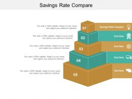 Savings Rate Compare Ppt Powerpoint Presentation Pictures Themes Cpb