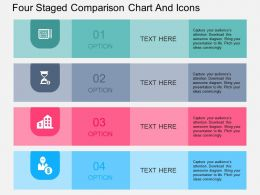 Sb Four Staged Comparison Chart And Icons Flat Powerpoint Design