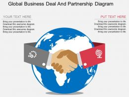 sb Global Business Deal And Partnership Diagram Flat Powerpoint Design