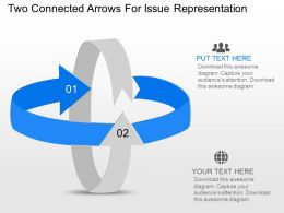 Sb Two Connected Arrows For Issue Representation Powerpoint Template